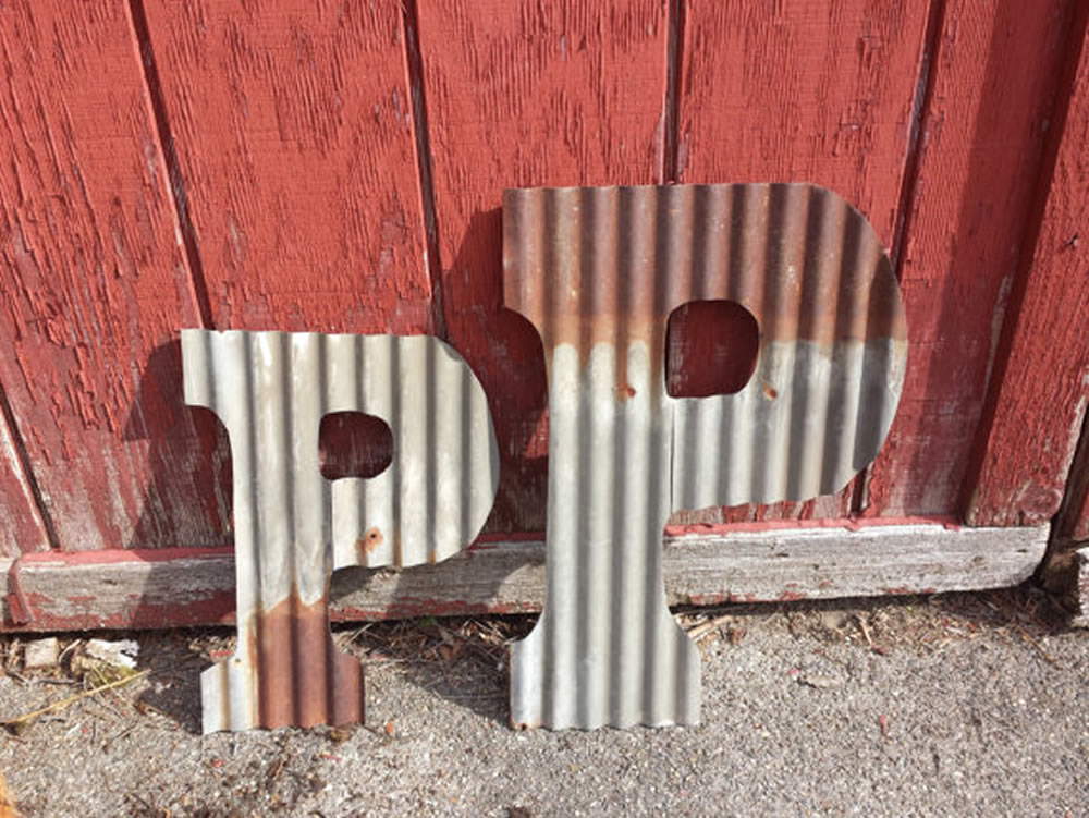 Large Corrugated Metal Letters Corrugated Rustic Metal Letters  Rustic Metal Letters & Wall Art
