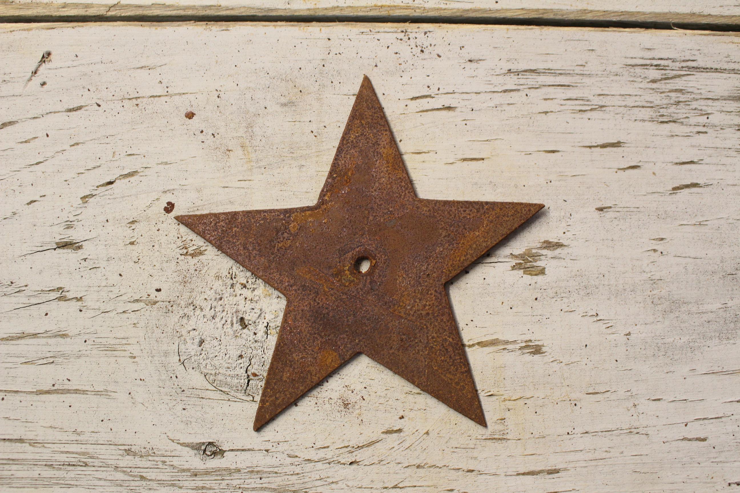 Metal Star Wall Art thick rusty metal star – rustic metal letters & wall art