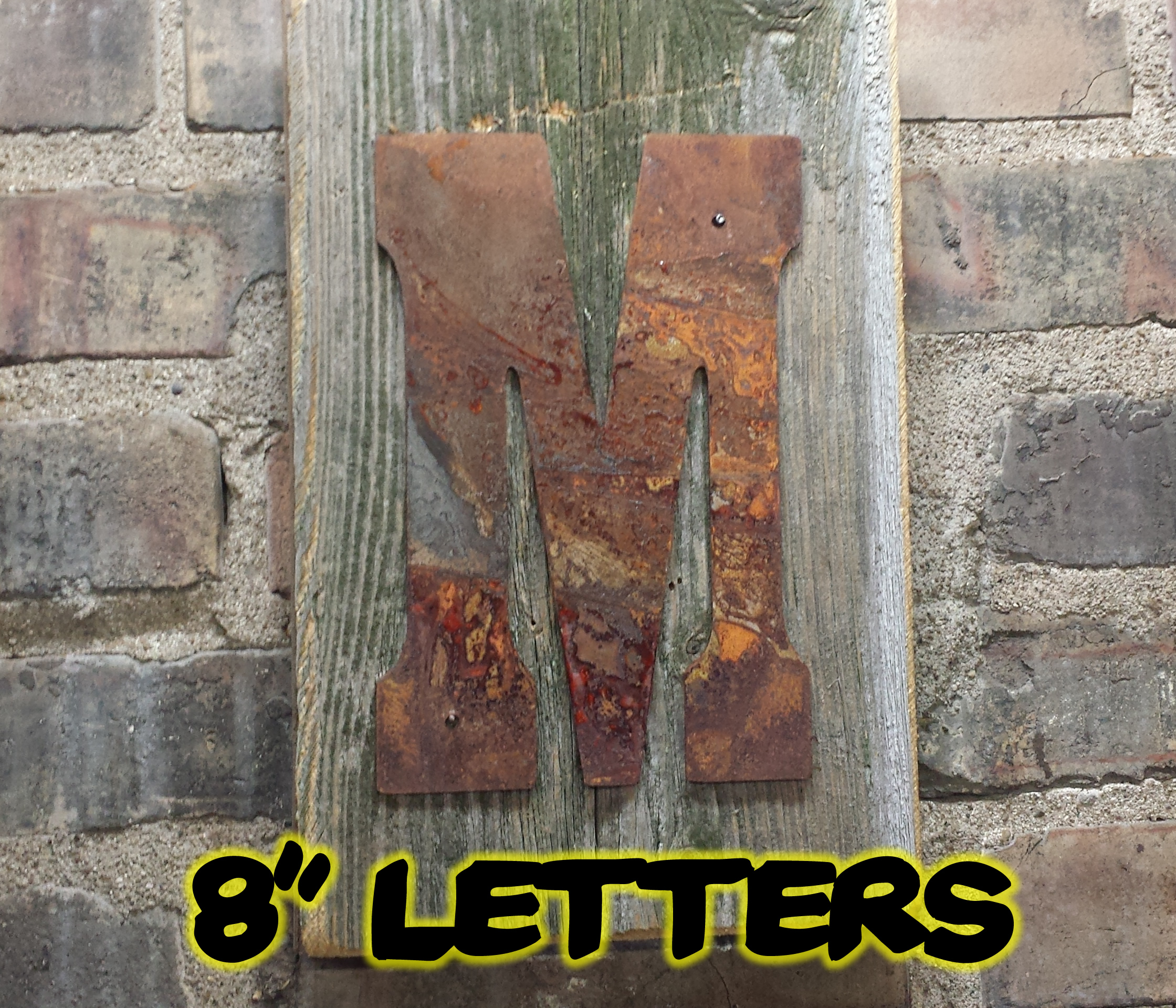 8 Rusty Flat Letters Rustic Metal Letters Amp Wall Art