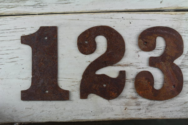 Rusty flat number