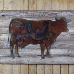 cow on woodback