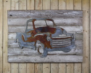 Rustic car decor