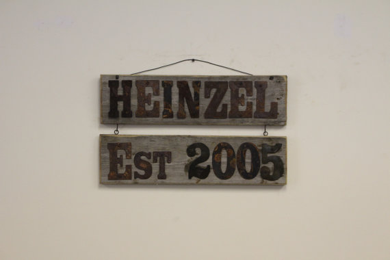 Customized Established name sign