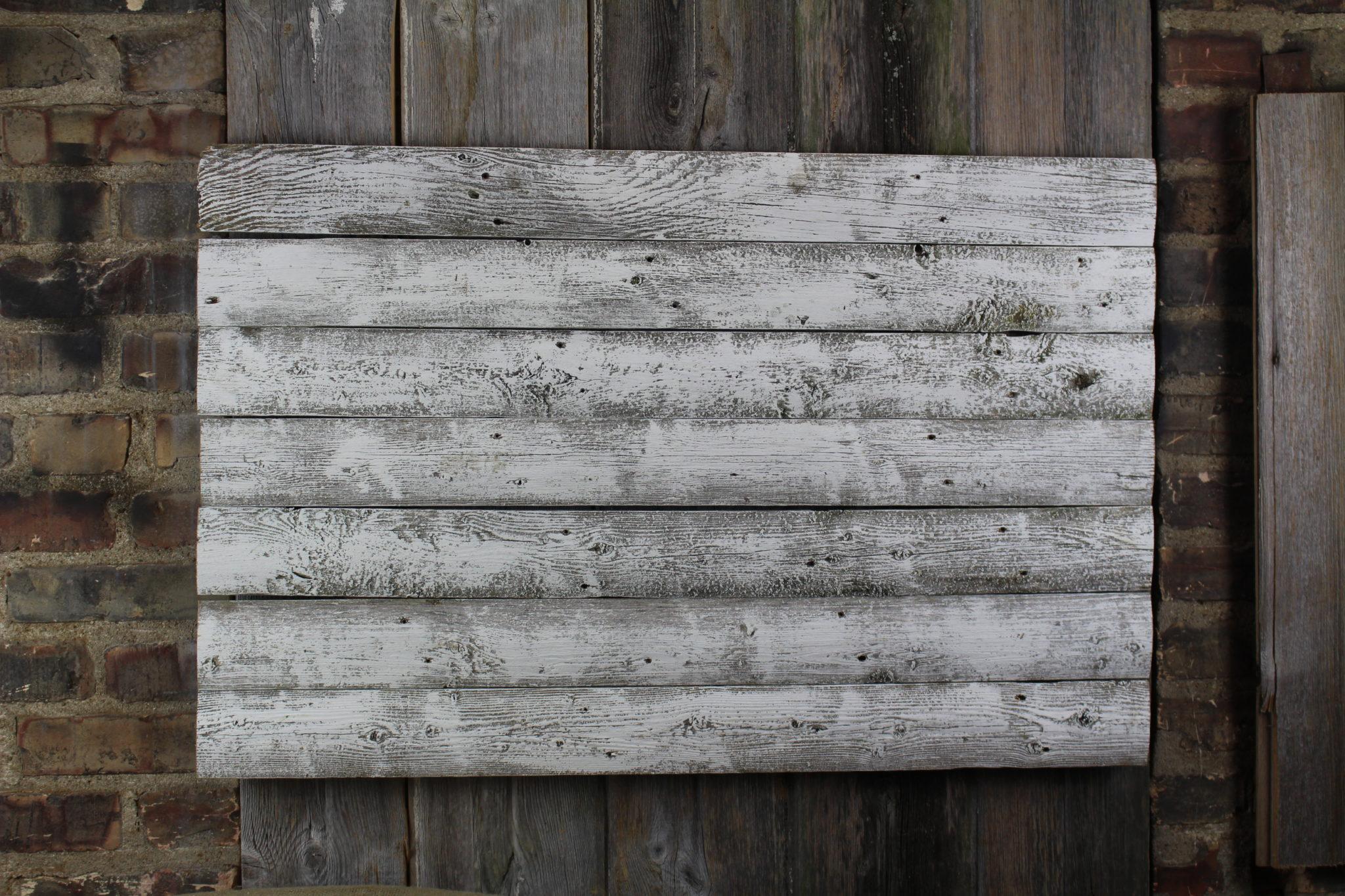 Barn white woodback
