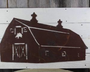 Rustic Barn on woodback