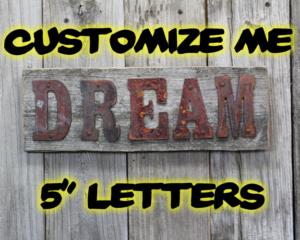"Custom sign 5"" letters"