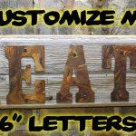 "Custom sign 6"" letters"