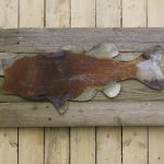 Fish shape on woodback