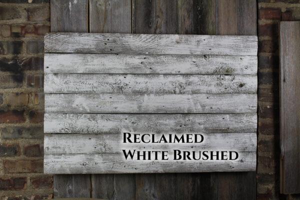 White brushed back