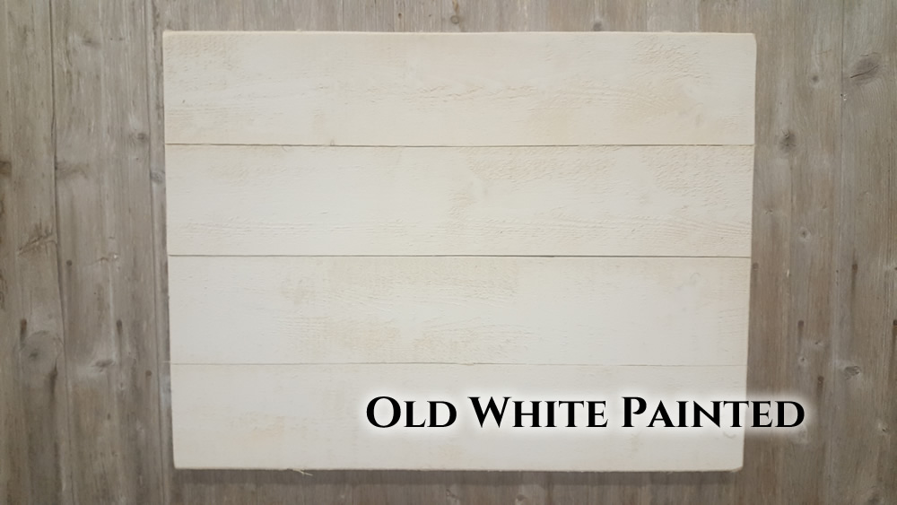 White painted sign back