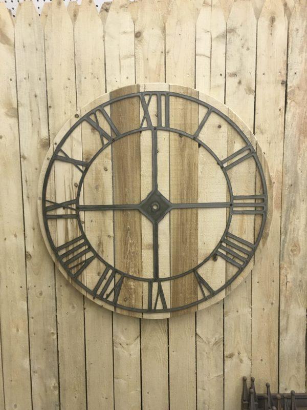 Large Rustic wood clock
