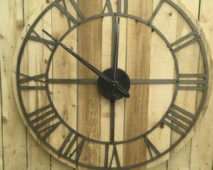 Rustic roman numeral clock