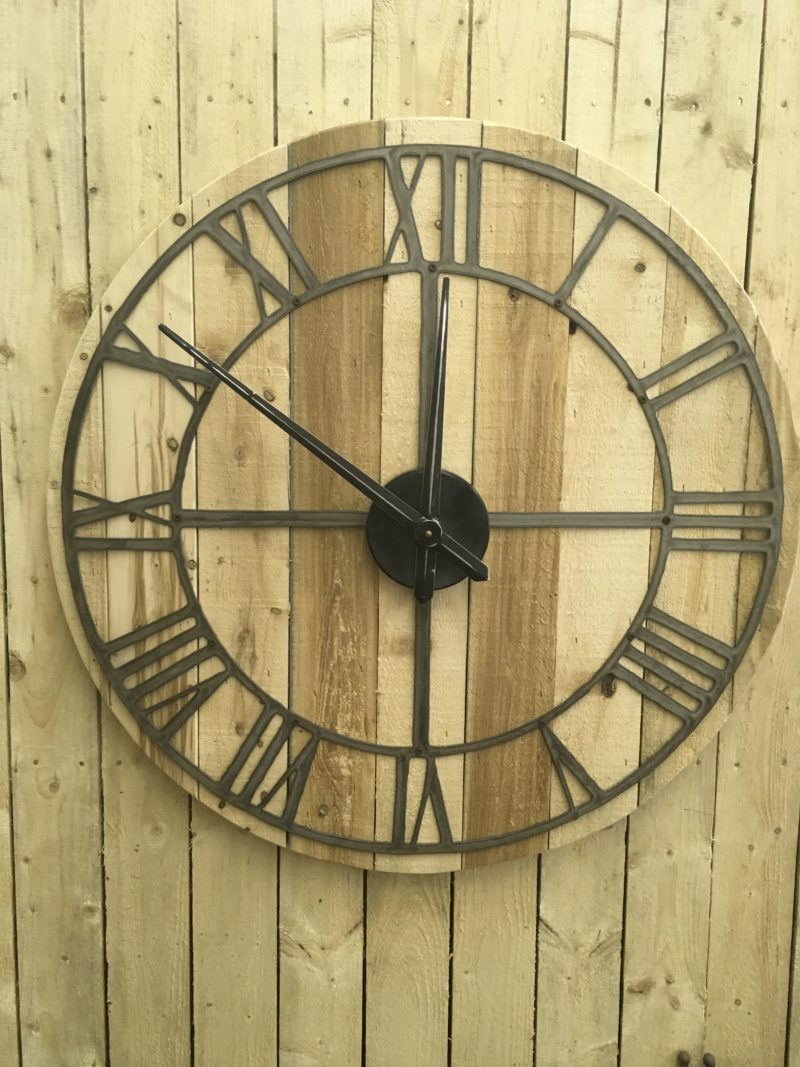 Large Rustic Wood Clock With Movement Rustic Metal