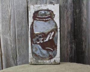 Ball Jar on woodback
