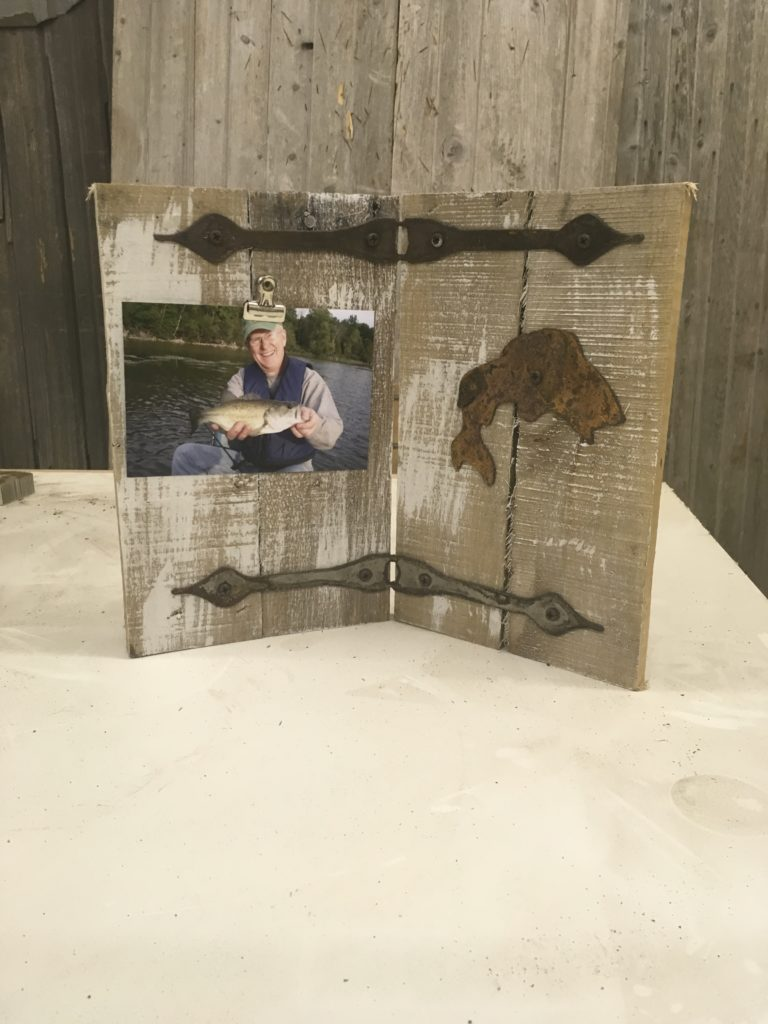 Fishing theme picture frame