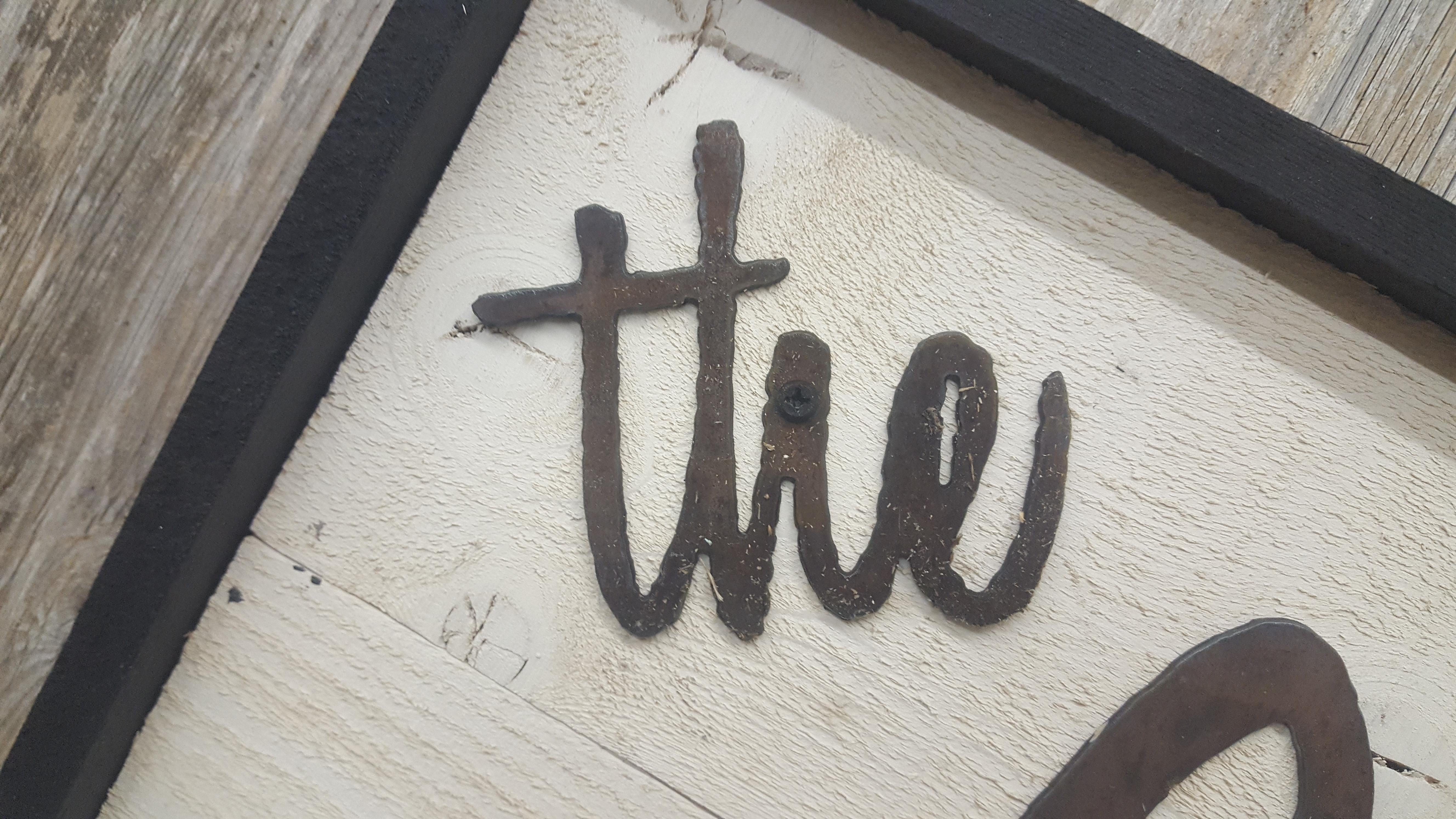 Custom word sign