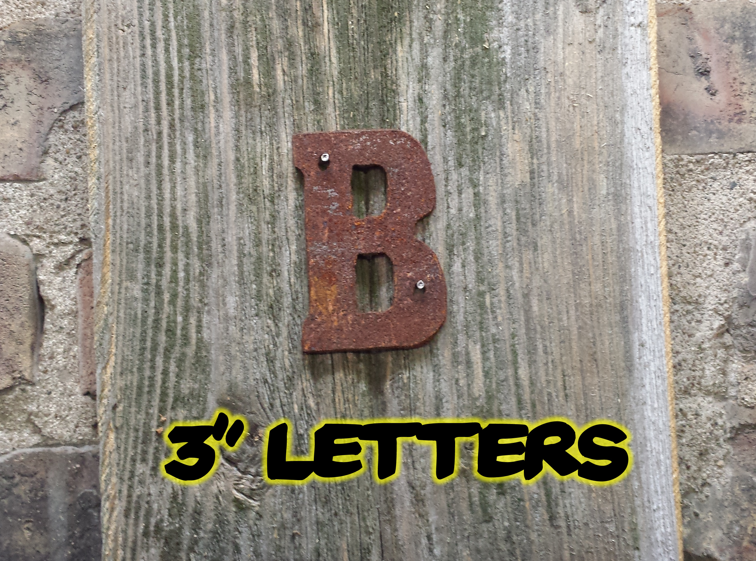 Tin Letters And Numbers 3″ Rusty Flat Letters  Rustic Metal Letters & Wall Art