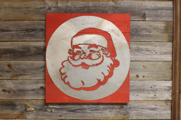 Santa on wood back