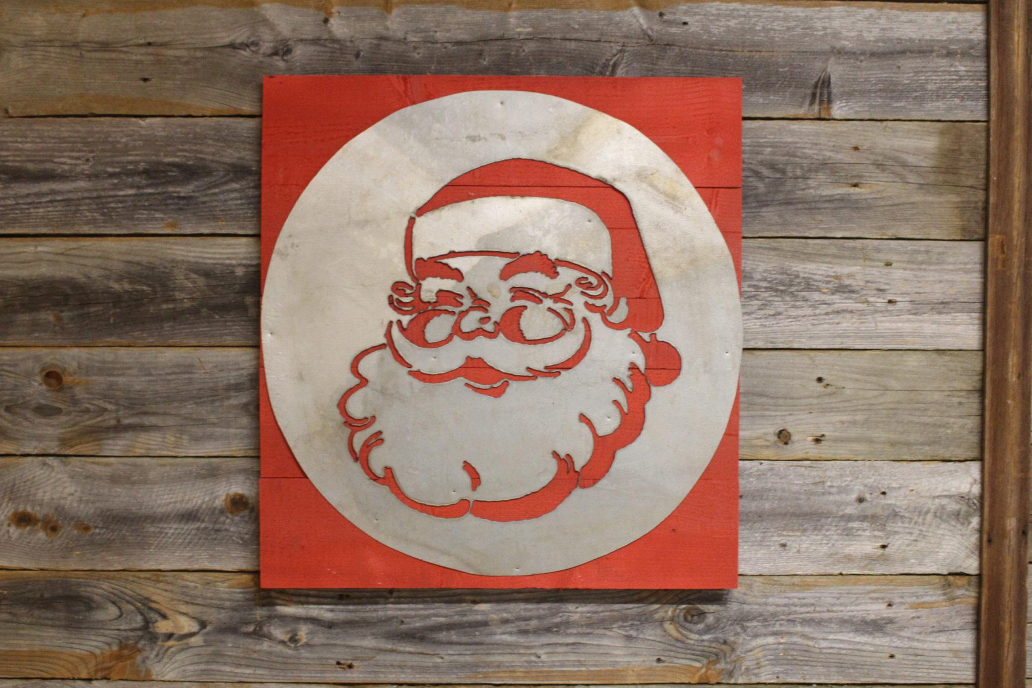 Santa on wood back