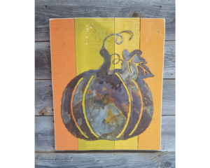 pumpkin with left drindles