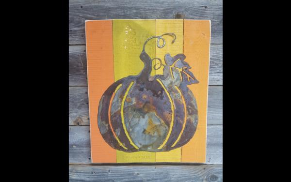 pumpkin with left drindles