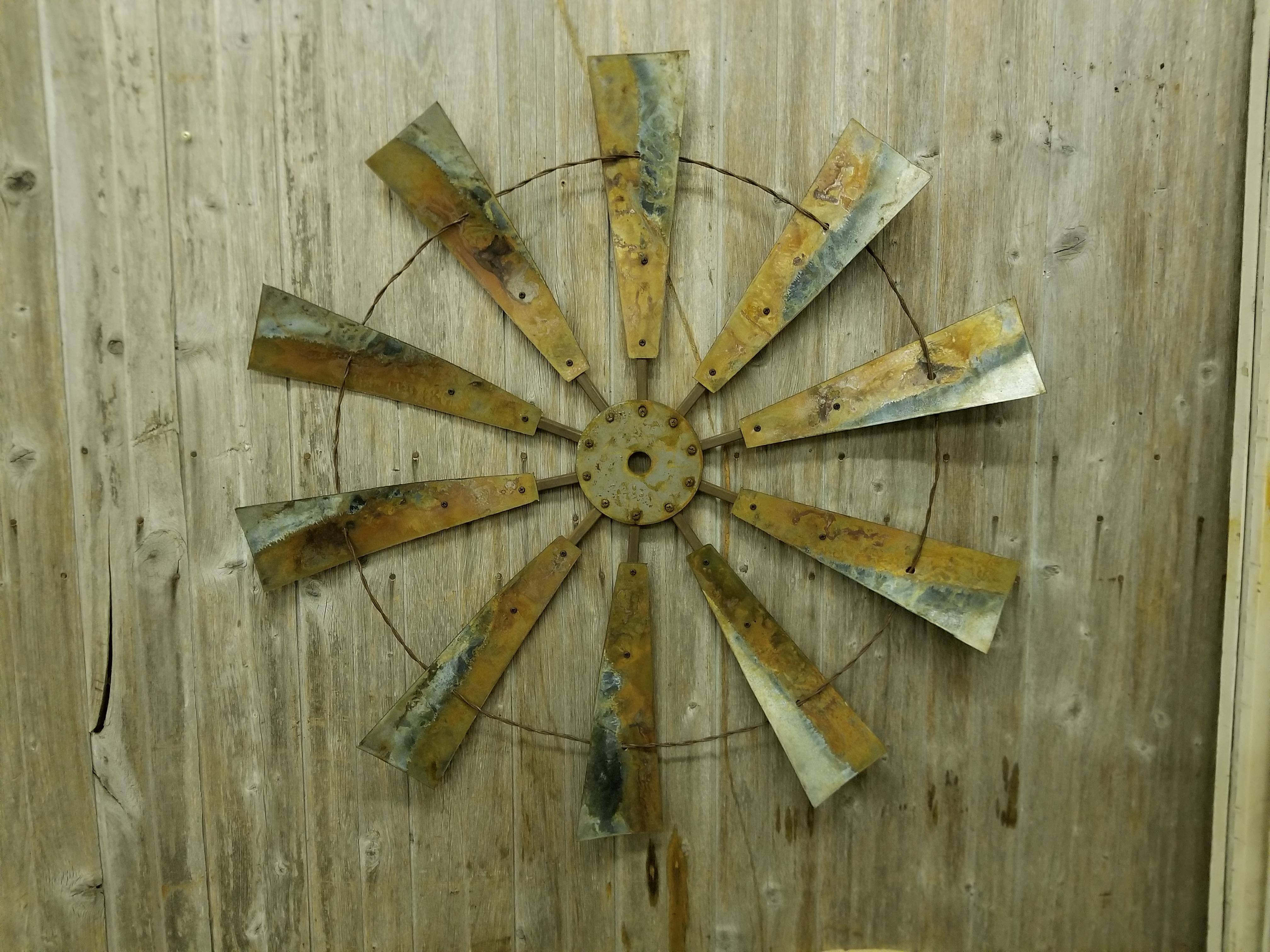 36 inch Full Windmill - Rustic Metal Letters & Wall Art